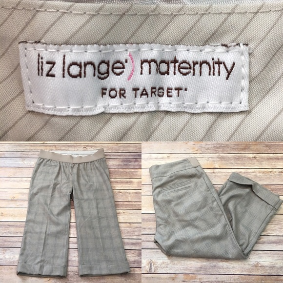 683c729b0a108 Liz Lange for Target Pants | Size 4 Liz Lange Maternity Tan Cuffed ...